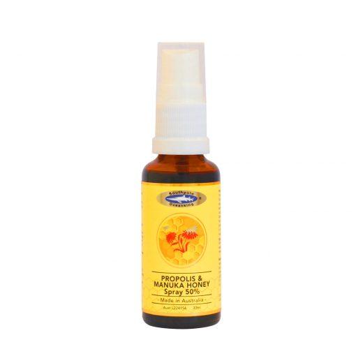 ocean king propolis and manuka honey spray 50 percent bottle front side