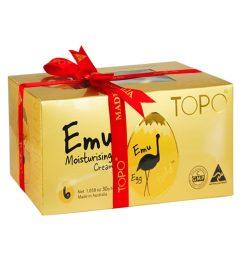topo-emu-cream-egg-6-egg-gift-pack-with-red-ribbon