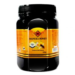 organicer manuka honey 10 plus 1000 gram bottle front side