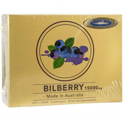 Ocean King® 15000mg Bilberry soft gel capsule 3x90's gift pack-0