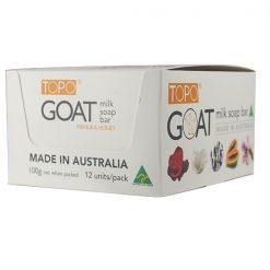 TOPO® GOAT MILK SOAP Bar Mnauka honey 12x100g PACK-0