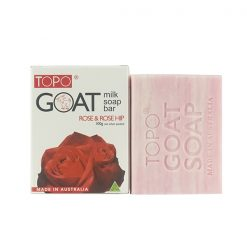 TOPO® Goat Milk Soap Bar Rose & Rosehip 100g-0