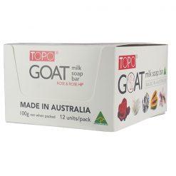 TOPO® Goat Milk Soap bar Rose & Rosehip 12x100g pack-0