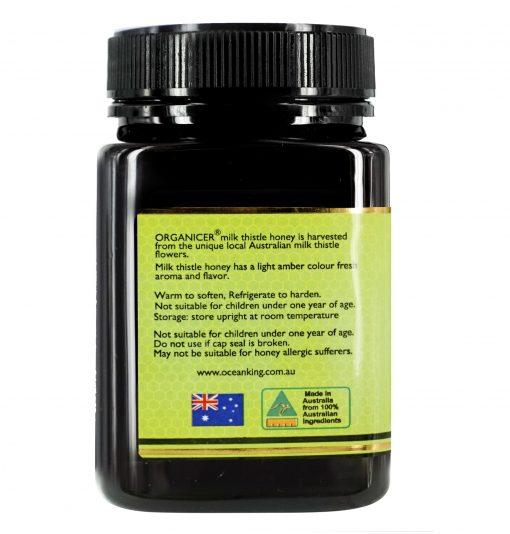 organicer-milk-thistle-honey-500g-left-side