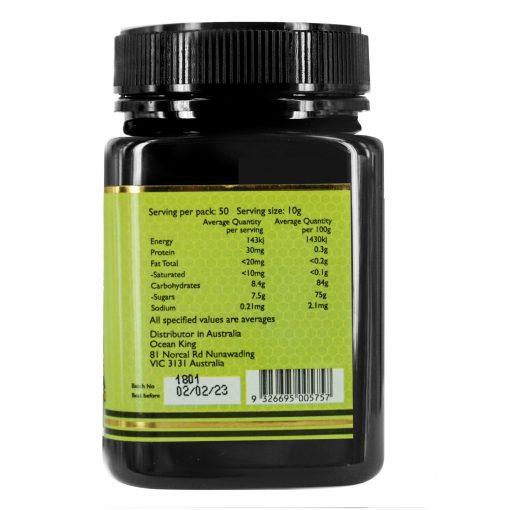 organicer-eucalyptus-honey-500g-right-side