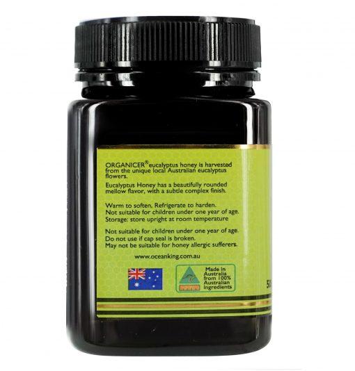 organicer-eucalyptus-honey-500g-left-side