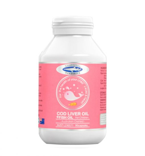 cod liver oil and fish oil 90 capsules front side