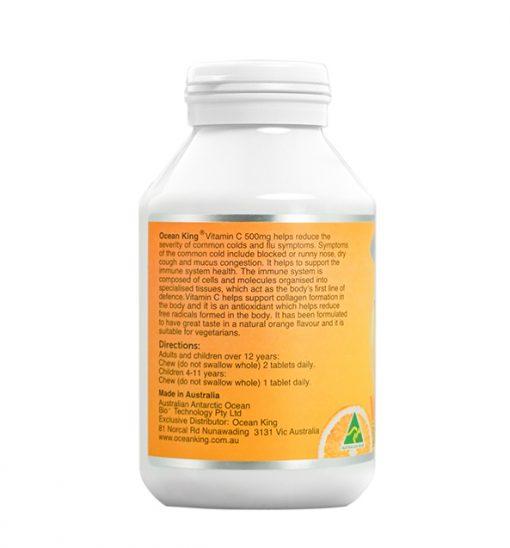 ocean-king-vitamin-c-500mg-90-chewable-tablets-left-side