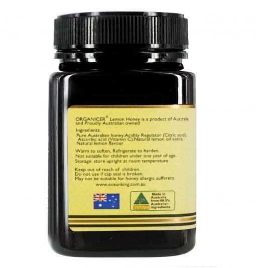 organicer-australian-lemon-honey-500g-left-side